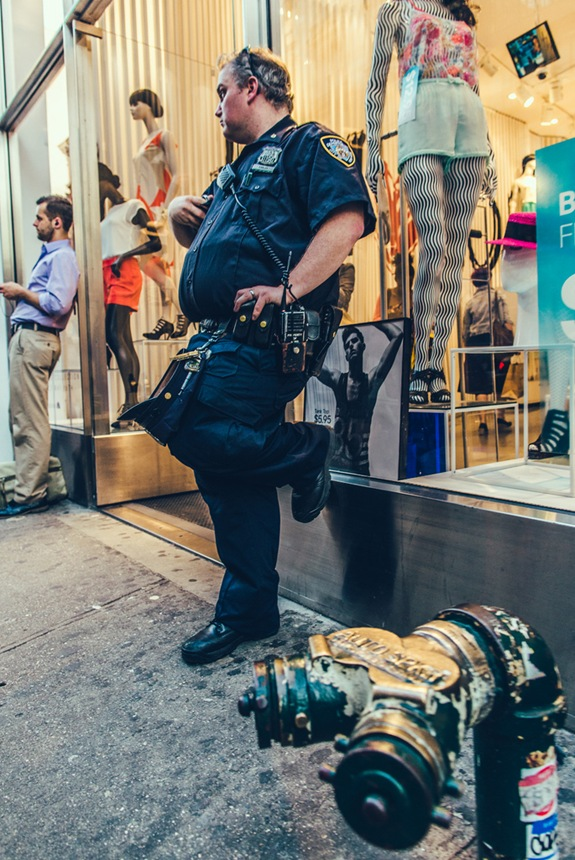 Fat NYPD Cop